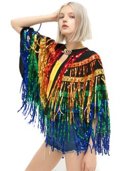 Festival Sequined Cape