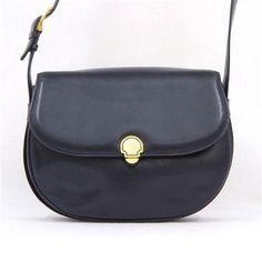 Vintage Celine Genuine Leather Excellent Condition, Blue