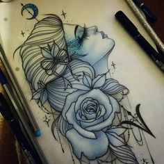 Available! Got a naked thigh? Lets put her on you!  Full colour or black and grey. See me at The Projects Tattoo or email for info. A deposit reserves her  sophie.adamson@hotmail.co.uk #tattoo...