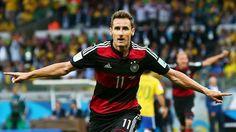 Half time Semi Final : Brazil 0 - Germany 5 - Miroslav Klose scores the 2nd..