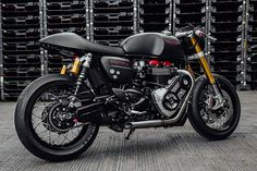 Cafe Racer, custom and classic motorcycles from around the globe. Featuring the world's top builders of custom motorcycles and Cafe Racers since Thruxton Triumph, Triumph Bikes, Triumph Motorcycles, Custom Motorcycles, Custom Bikes, Custom Cycles, Triumph Cafe Racer, Cafe Racer Motorcycle, Motorcycle Bike