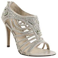 Jean-Michel Cazabat Light Grey Leather Chain Detail 'Cheri' Sandals