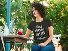 """Father's Day Gifts for Dad Perfect gift for Father's Day! """"Only Awesome Dads get Hugged a lot"""" Father World's Greatest Shirt Price : $23 https://teespring.com/fathers-day-gift-for-dads#pid=369&cid=6514&sid=front"""
