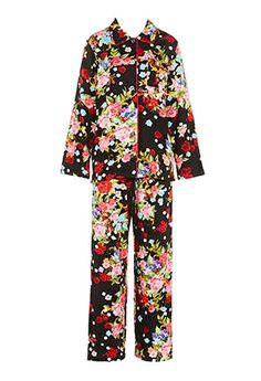 Image for Black Floral Pj Set from Peter Alexander