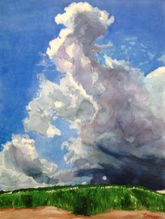 "For Sale: Nimbus by Heather Rippert | $250 | 22""w 30""h | Original Art | http://www.arttwo50.com/buy/art/nimbus"