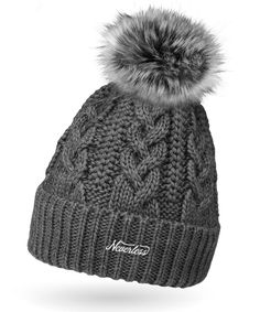 Wintermütze  Bommelmütze Neu Luxus Damen Mütze Strickmütze BEANIE SLOUCH