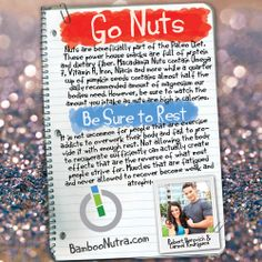 Nutrition & Fitness Tip - Go Nuts & Be Sure to Rest #poweredbynature