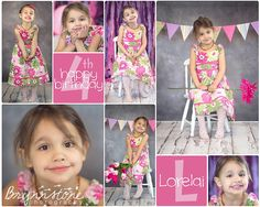 Happy 4th Birthday   Child Birthday Photography