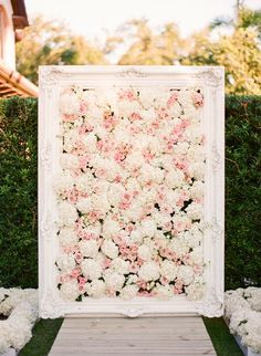 Stunning Backdrop for the Ceremony.   Flowers by 50Fifty Creative Services   Photography by KT Merry Photography #AnnaLuciaEvents #KTMerryPhotography