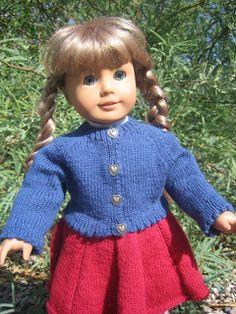 Free sweater pattern for American Girl doll.