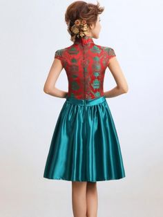 Short Qipao / Cheongsam / Chinese Bridesmaid / Evening Dress