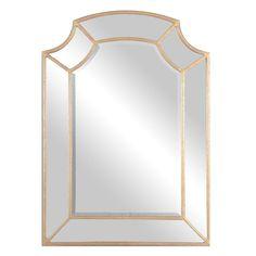"Francoli Gold Arch Mirror W 32"" / D 1"" / H 43.88"""