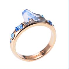 Cinderella slipper ring...you could hurt someone with this, but it is cute!