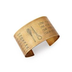 Look what I found at UncommonGoods: Cook's Conversion Cuff for $89 #uncommongoods