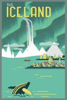 travel poster vintage iceland - Google Search http://fancytemplestore.com