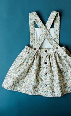 Handmade Floral Pinafore Dress | blytheandreese on Etsy