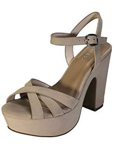 -- Continue to the product at the image link. (This is an affiliate link) Buy Bamboo, Heeled Sandals, Chunky Heels, Fashion Shoes, Image Link, Advertising, Platform, Footwear, Wedges