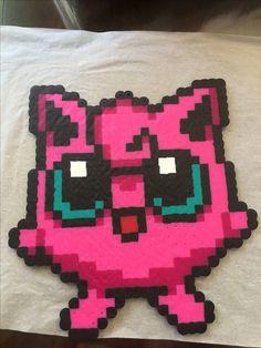 Jigglypuff Pokemon perler beads