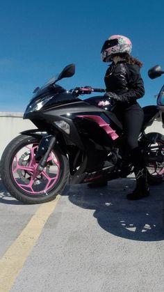 2014 ninja 300 custom pink paint job