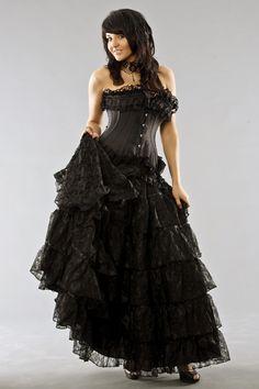 Victorian Black lace skirt