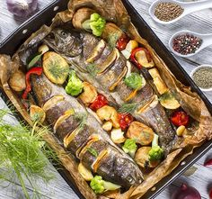 Fish Recipes, Seafood Recipes, Cooking Sea Bass, Sauteed Potatoes, Fried Vegetables, Wonderful Recipe, Fennel Seeds, How To Squeeze Lemons, Pampered Chef