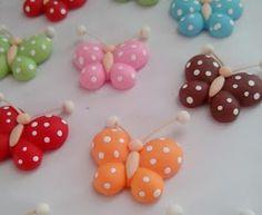 Crie e Faça Você Mesmo : Borboletas feitas em biscuit