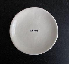 thin porcelain dish (ENJOY).