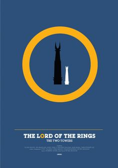 The Lord of the Rings: The Two Towers (2002) ~ Minimal Movie Poster by David O'Mara #amusementphile