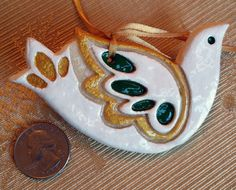 TURTLE DOVE  Salt Dough Cut-Out Cookie Ornament by ChironCreations