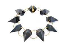 Modern Jewelry // Philip Sajet // necklace // a nice mix of metals.