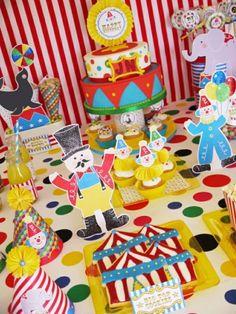 Party printables anniversaire enfant thème cirque