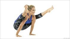 Use the strength of your core to lift step-by-step into Firefly Pose