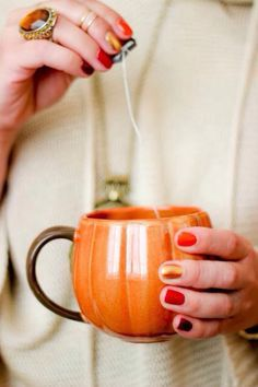 In the fall everything tastes better out of a pumpkin cup doesn't it?