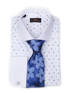 Steven Land Dress Shirt DS1212-A | Blue $59 #StevenLand #Blues 100% cotton dress shirts classic fit