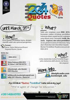 2014 Quotes #IDEA2014 | ideaipb.webs.com | @bemkmipb_edu
