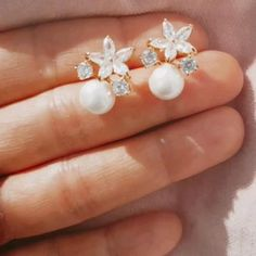 Just Married, Daily Wear, Wedding Jewelry, Make Up, Pearl Earrings, Bling, Bridal, Elegant, Flowers