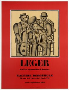 Fernand Leger Galerie Berggruen 1975 France / 1975 / Advertising Posters / Fernand Leger / 66x50 Original vintage advertising poster… / MAD on Collections - Browse and find over 10,000 categories of collectables from around the world - antiques, stamps, coins, memorabilia, art, bottles, jewellery, furniture, medals, toys and more at madoncollections.com. Free to view - Free to Register - Visit today. #Posters #Advertising #MADonCollections #MADonC Vintage Advertising Posters, Vintage Advertisements, Vintage Posters, Joseph Stella, Art Exhibition Posters, Original Vintage, Ad Art, Paris, Gravure