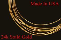 "1"" - 12""  24k PURE .999 solid yellow round gold wire gauge 30  gauges Brand new     eBay"