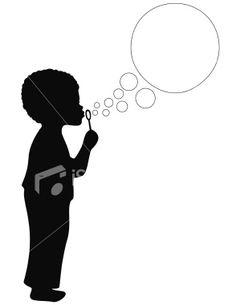 Blowing Bubbles Silhouette | Little girl silhouette ...