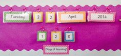 Date and Days of Learning Display