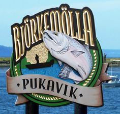 The fish on this hand-crafted sign was hand sculpted and painted, with a chip carved background. Metal Signs, Wooden Signs, Lake House Signs, Fishing Signs, Camping Signs, Fish Camp, Home Signs, Sign Design, Wood And Metal