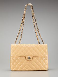 91c2f0ae4e14 Chanel Beige Quilted Caviar Leather Quilted Jumbo 2.55 Flap Bag Vintage  Chanel, Kaviaar