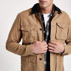 6f26a6bf8bf7 Jack   Jones Originals stone field jacket - Jackets - Coats   Jackets -  men. River Island ...