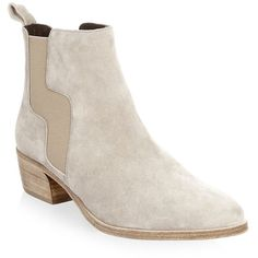 Pierre Hardy Gipsy Suede Chelsea Boots (2.820 RON) ❤ liked on Polyvore featuring shoes, boots, ankle booties, round-toe chelsea boots, slip on boots, stacked heel ankle booties, chelsea ankle boots and stacked heel boots
