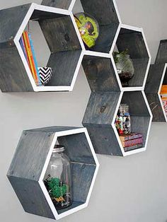 Color trends come and go, but one geometric shape is the latest big thing in decorating. Hexagons are popping up everywhere, including tile, fabric patterns, and furniture. Ready to embrace this trend? Here are six creative ways to bring the six-sided shape into your home.