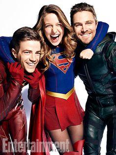 Arrow, The Flash, Supergirl e Legends of Tomorrow - Reveladas novas imagens oficiais incríveis do mega crossover! - Legião dos Heróis