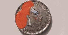 Coin as canvas. Cute!