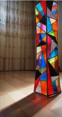 Pintura jarrón vitral