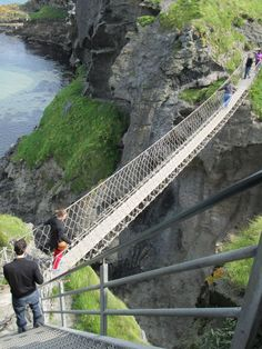 Northern Ireland rope bridge