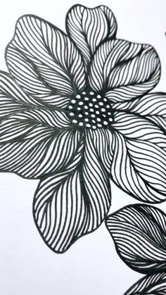 Doodle Art Drawing, Zentangle Drawings, Flower Art Drawing, Doodles Zentangles, Zentangle Patterns, Art Drawings Sketches Simple, Pencil Art Drawings, Mandala Art Lesson, Doodle Art Designs